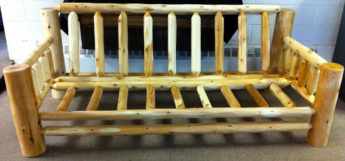 Hand-Peeled Cedar Log Futon